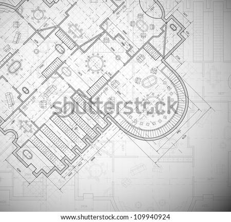 Detailed architectural plan. Eps 10 - stock vector