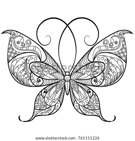 coloring pages detailed butterfly - photo#11