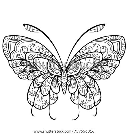 coloring pages detailed butterfly - photo#14