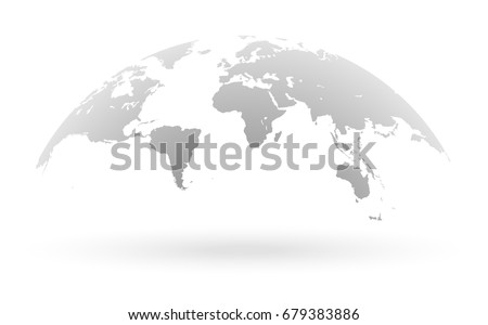 Detailed grey world map mapped on vector de stock679383886 shutterstock detailed grey world map mapped on an open globe isolated on white background gumiabroncs Gallery