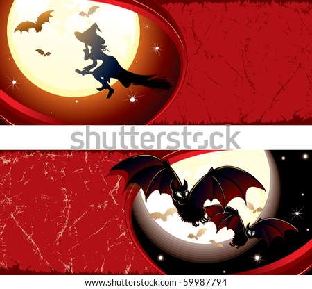 Detailed grunge Halloween vector banners#1 - MORE HALLOWEEN PICTURES SEE AT MY GALLERY