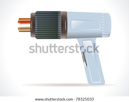 detailed hair dryer element vector illustration