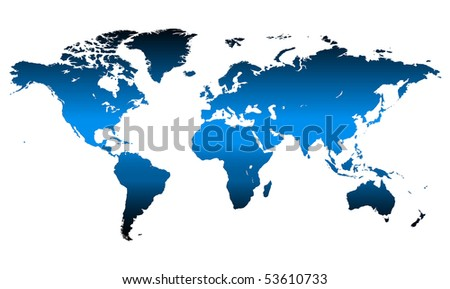 Detailed, high quality vector map of the World. - stock vector