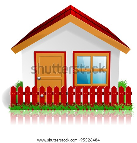 Detailed home icon. - stock vector