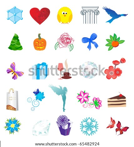 detailed icons vector Illustration
