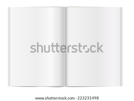 detailed illustration of a blank book template, eps10 vector - stock vector
