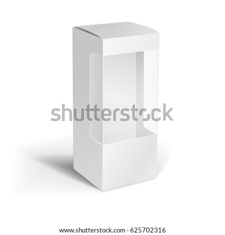 detailed illustration blank box window packaging stock vector