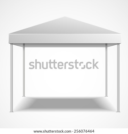 detailed illustration of a blank canopy tent, eps10 vector - stock vector