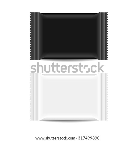 detailed illustration of a blank Snack Bar packaging template, eps10 vector - stock vector