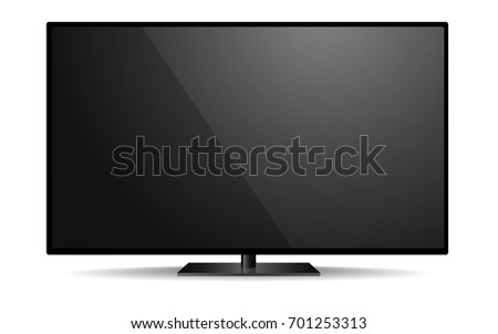 detailed illustration of a blank tv mockup template, eps10 vector