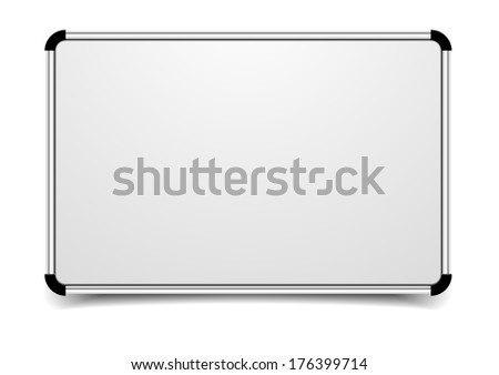 detailed illustration of a blank whiteboard, eps10 vector - stock vector