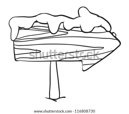 detailed illustration of a board on a white background