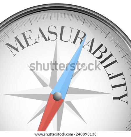 detailed illustration of a compass, with measurability text, eps10 vector - stock vector