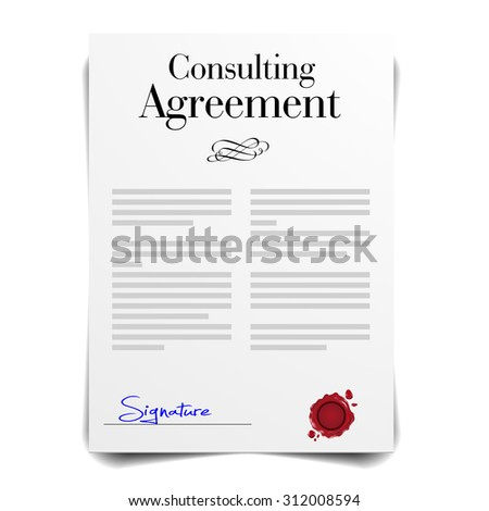 detailed illustration of a Consulting Agreement Letter, eps10 vector - stock vector