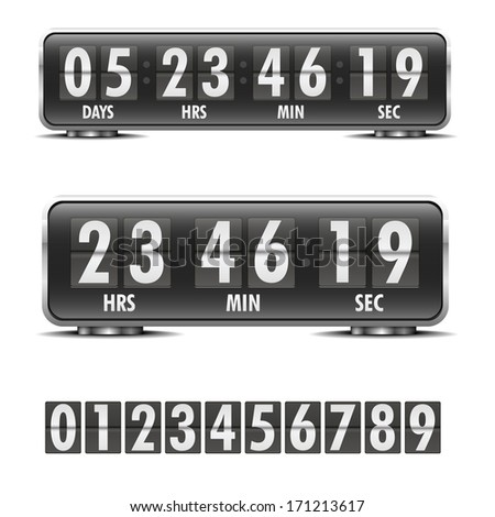 detailed illustration of a countdown timer, eps10 vector