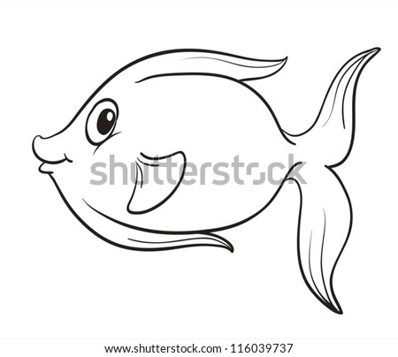 detailed illustration of a fish outline