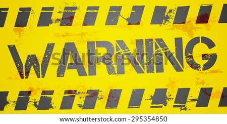 detailed illustration of a grungy Warning background, eps10 vector - stock vector