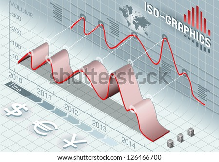 Detailed illustration of a isometric info graphic set elements - stock vector