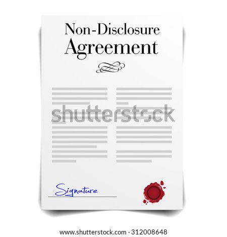 detailed illustration of a Non-Disclosure Agreement Letter, eps10 vector - stock vector