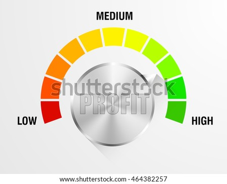 detailed illustration of a profit meter, eps10 vector