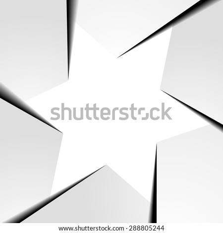 detailed illustration of a six points star shaped infographic template layout, eps10 vector - stock vector