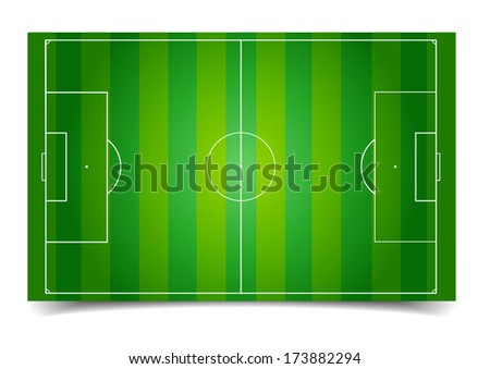 detailed illustration of a soccer field, eps10 vector - stock vector