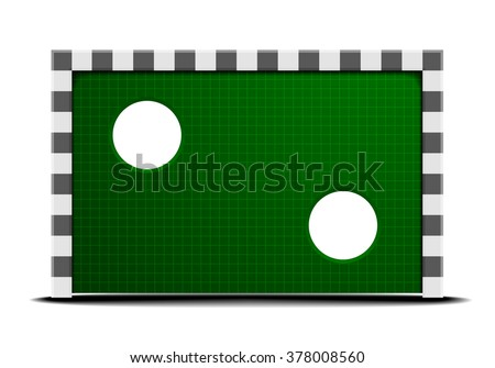 detailed illustration of a soccer training wall, eps10 vector - stock vector