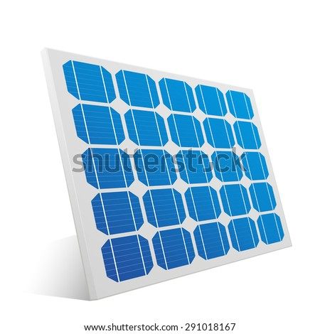 detailed illustration of a solar cell panel, eps10 vector