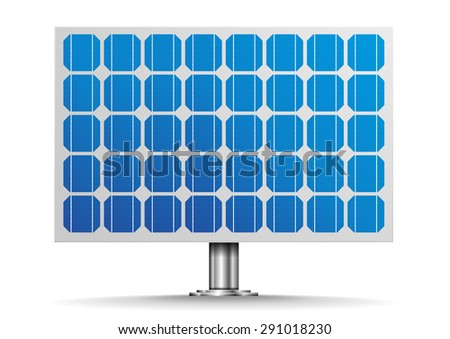 detailed illustration of a solar cell panel, eps10 vector - stock vector
