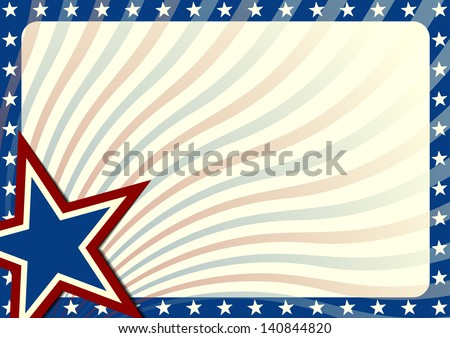 detailed illustration of a stars and stripes background, eps 10 vector - stock vector