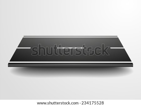 detailed illustration of a straight road, eps10 vector - stock vector