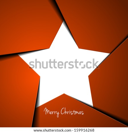 detailed illustration of a stylized christmas star background, eps 10 vector  - stock vector