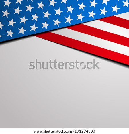 detailed illustration of a stylized patriotic stars and stripes background, eps 10 vector  - stock vector