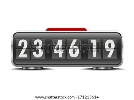 detailed illustration of an alarm clock, eps10 vector - stock vector