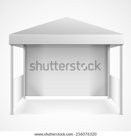 detailed illustration of blank canopy tent, eps10 vector - stock vector