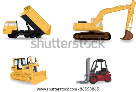 Detailed industry machines vector illustration - stock vector