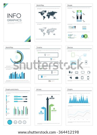Detailed infographic collection, vector illustration. Information Graphics - stock vector