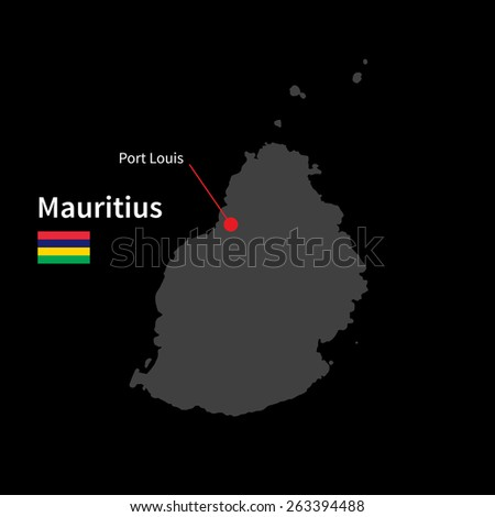 Mauritius Map Pin Stock Images RoyaltyFree Images Vectors - Detailed map of mauritius