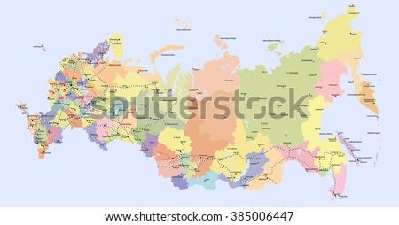 Russia Map Stock Images RoyaltyFree Images Vectors Shutterstock