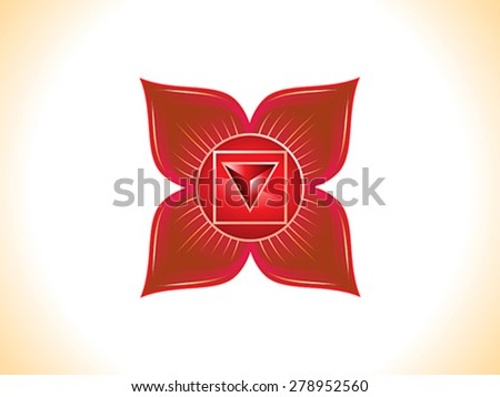 detailed root chakra vector illustration - stock vector