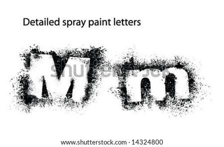 Detailed Spray Paint Font Mm Stock Vector 14324800 - Shutterstock