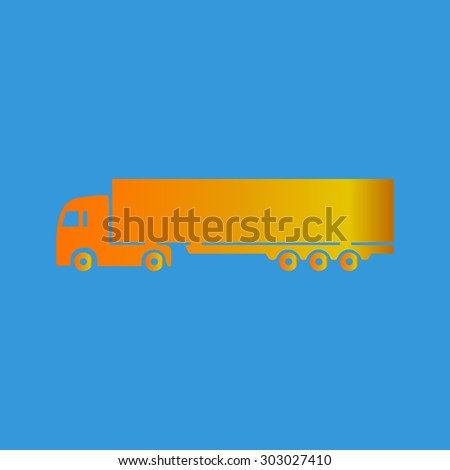 Detailed trucks silhouettes. Flat web icon, sign or button isolated on grey background. Collection modern trend concept design style vector illustration symbol  - stock vector