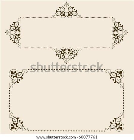 Detailed vector frame set. Easy to edit. - stock vector