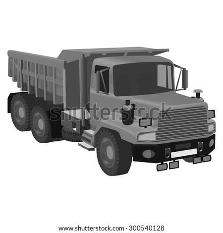 Detailed vector illustration of  truck. Can be use for create infographic illustration.
