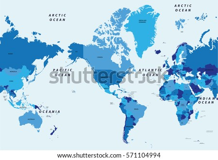 Pacific Ocean Stock Images RoyaltyFree Images Vectors - World map pacific ocean