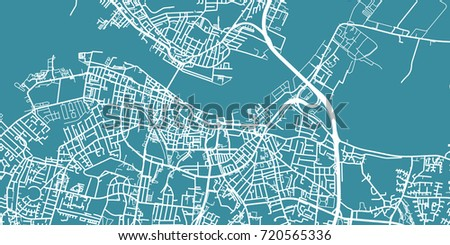 Detailed Vector Map Aalborg Scale 130 Stock Vector 2018 720565336
