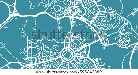 detailed vector map of canberra scale 130 000 australia