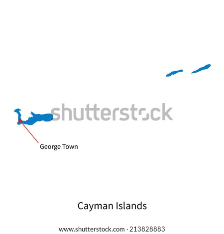 Cayman Islands Map Stock Images RoyaltyFree Images Vectors - Cayman islands cities map