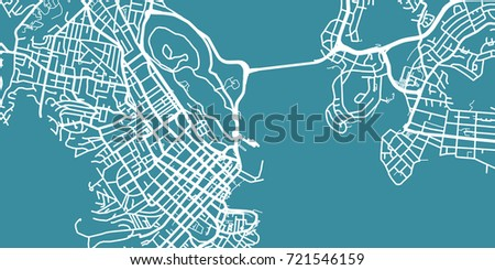 Detailed Vector Map Hobart Scale Stock Vector - Hobart map