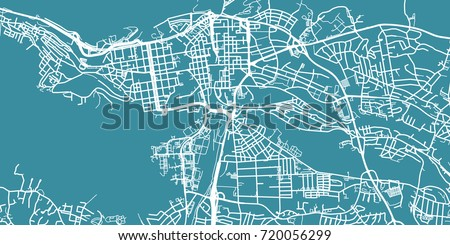 Detailed Vector Map Tampere Scale 130 Stock Vector 2018 720056299